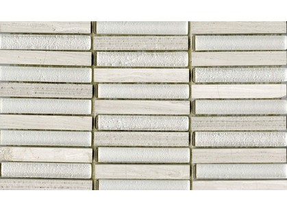 L`antic colonial Mosaicos Time Text Linear Silver Wood 1,5x10