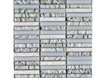 L`antic colonial Mosaicos Tecno Linear Silver White 1.5x9.7