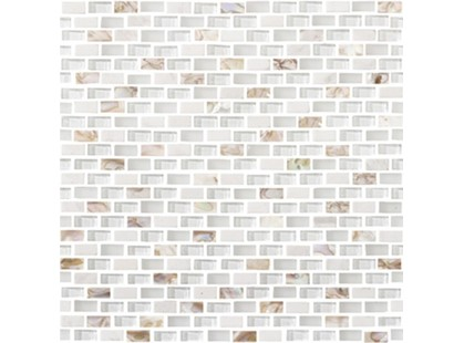 L`antic colonial Mosaics Collection L244001101 Tribal Pearl White (1x2)