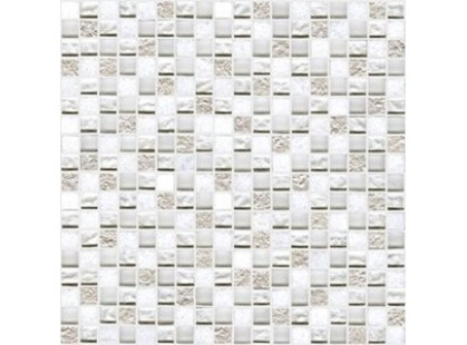 L`antic colonial Mosaics Collection L242521601 Imperia Mix Silver White