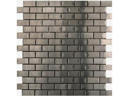 L`antic colonial Steel Mosaics L153004041 Mosaico Brick Acero 2x4 Malla