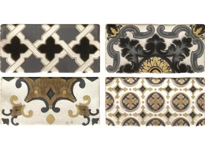 Latina ceramica Arezzo Oro Conjunto Комплект декоров из 4 плиток 1