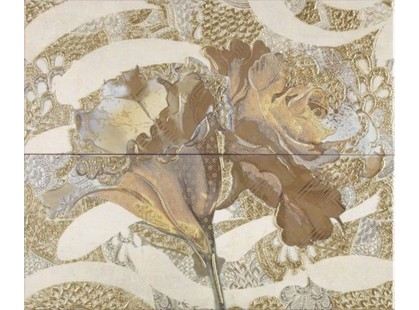 Latina ceramica Frades Conjunto Floral Beige (компл. из 2 шт. 25х60)