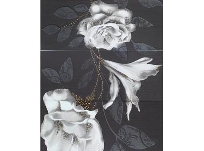 Latina ceramica Hermes Mural Rose Negro 3 pz