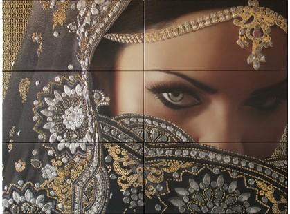 Latina ceramica Siha Mural Yasmin Negro ( из 6 пл.)