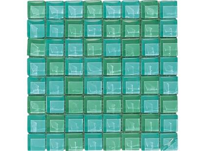 Maioliche Dell Umbria Vitrea Vi Mosaico Verde