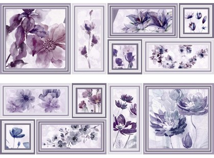 Azulejos Mallol Genova Decor Memories Lila-2