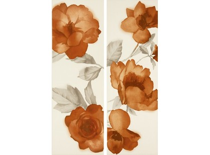 Marazzi Colourline Ivory/Orange Decoro MLES