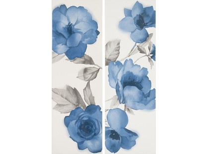 Marazzi Colourline White/Blue Decoro MLER