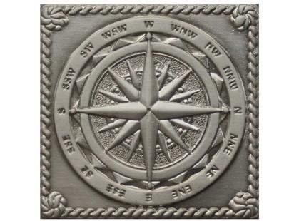 Moneli Decor Декоративные вставки (латунь) Windrose Satined silver (серебро сатинированная)