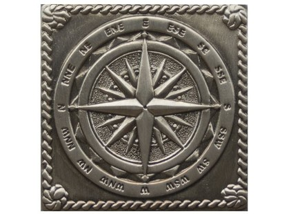Moneli Decor Декоративные вставки (латунь) Windrose Satined black silver (серебро окисленное)