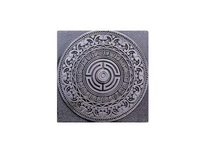 Moneli Decor Olambrilla Creta Satined Black Silver