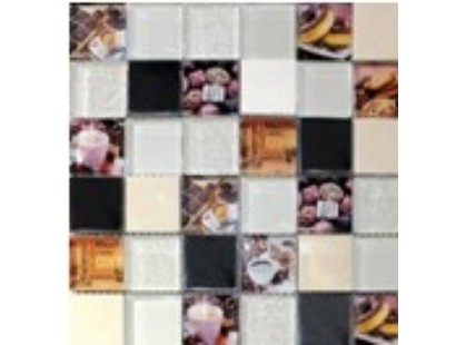 Мозаика Китайская мозаика Coffee (стекло, металл, камень)
