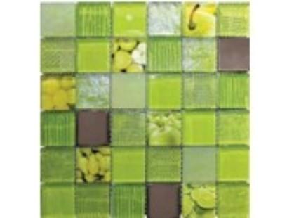 Мозаика Китайская мозаика Fruits Green (стекло, металл)