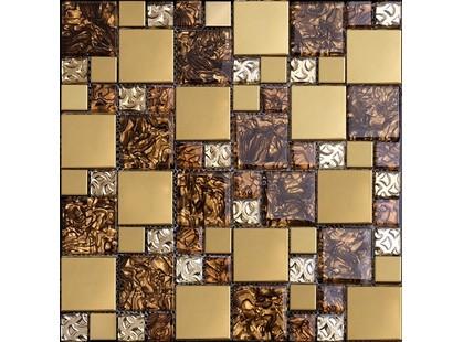 Мозаика Китайская мозаика AE 22 (2,3*2,3 + 4,8*4,8*0,6) Бежевый Матовый