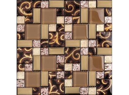 Мозаика Китайская мозаика AE 32 (2,3*2,3+2,3*4,8+  4,8*4,8*0,8) Бежевый Глянц.