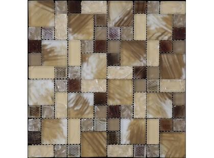 Мозаика Китайская мозаика HMS 05 (23*23+23*48+  48*48*8) Бежевый Битое Стекло