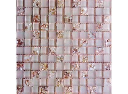 Мозаика Китайская мозаика KS 007 (2,3*2,3*0,8) бежевая с жемчужинами внутри