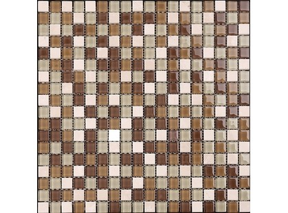 Мозаика Китайская мозаика KS 81 (1,5*1,5*0,4) светло-беж. мрамор-стекло