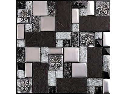 Мозаика Китайская мозаика TC17 основа-сетка ПВХ,микс,(2,3*2,3+2,3*4,8+4,8*4,8)*0,8