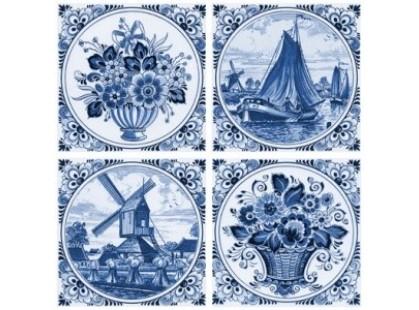 Нефрит Акварель Фландрия Голубой 1