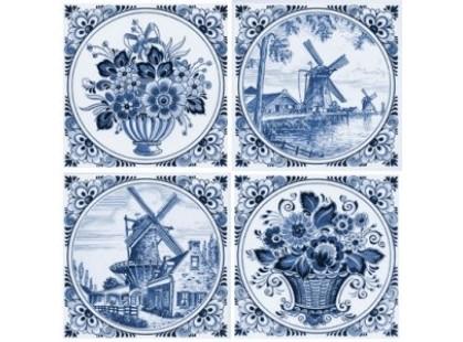 Нефрит Акварель Фландрия Голубой 2