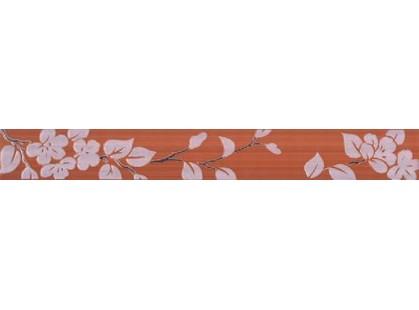 Нефрит Кензо темно-терракотовый Цветы
