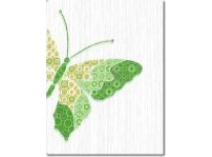 Нефрит Кураж Бабочки (4шт) Зеленый