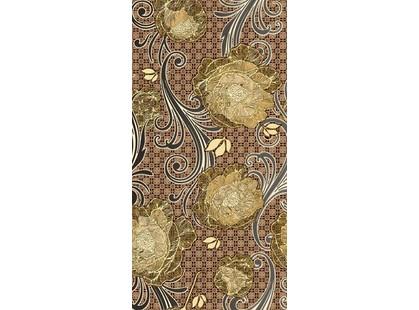 Нефрит Мирабель Декор коричневый (25x50)