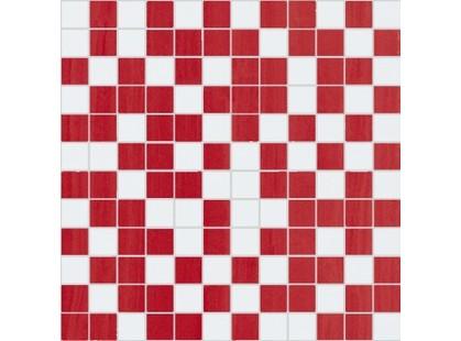 Nobilia Fortune Fortune Mosaico  White Red