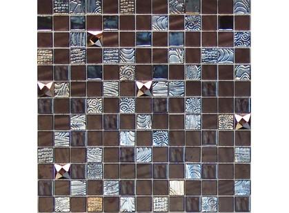 Onix Mosaico Mystic Glass Agata Diamond Brown Malla