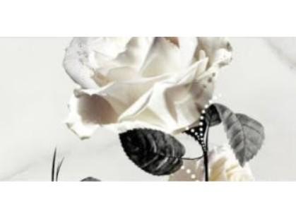 Opoczno Carrara Белый Цветок (O-CRR-WPG052)  / 1 часть