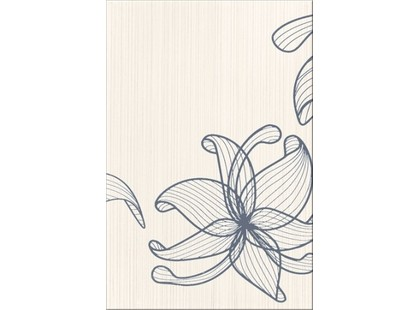 Opoczno Lorena Szara Flower A (O-LOR-WIG401)