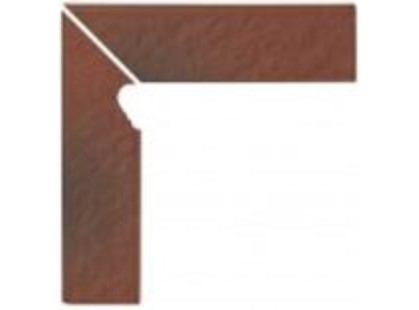 Opoczno Shadow red Cokol Schodowy 3-d LEWY