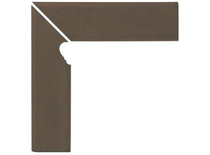Opoczno Simple brown Cokol Schodowy LEWY