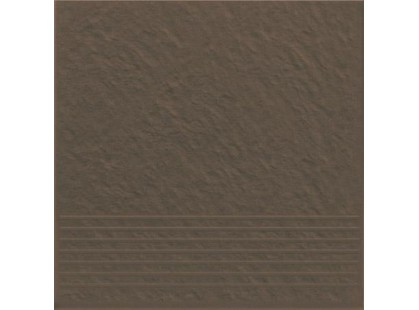 Opoczno Simple brown Stopnica Prosta Strukturalny 3-d