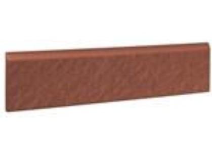 Opoczno Simple red Cokol Strukturalna 3-d