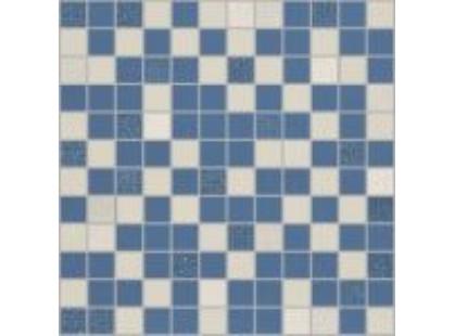 Pamesa Ceramica Futura Mosaico Azul-Blanco
