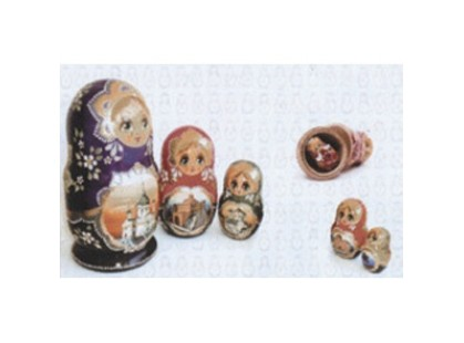 Pamesa Ceramica Vetro-Vetro Relieve Dec. Matrioshka Blanco