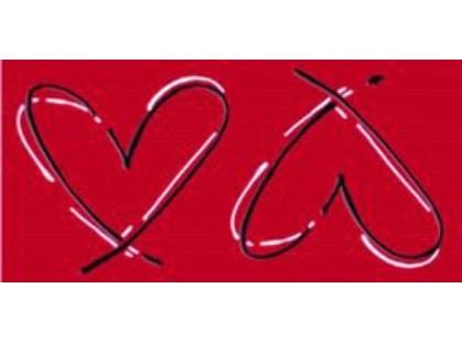 Paul Ceramiche Manhattan Inserto Love Red