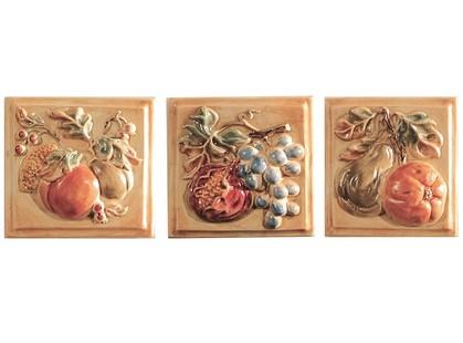 Polis Ceramiche Palio Di Siena Drago Ins. Frutta ABC (3 шт.)