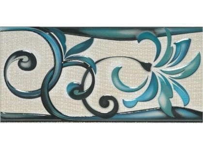 Porcelanite Dos 421 Cenefa  Azul/Perla