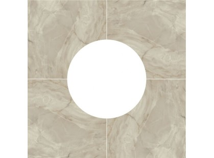 Porcelanite Dos 5021 5021 Base Roseton Gris x4