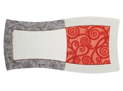 Porcelanite Dos Serie 9001 Composicion  Gris~marengo~rojo Vidre Ii