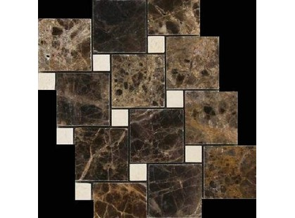 Premium Marble Декоры Crema Marfil (15) + Emperador (48) Polished