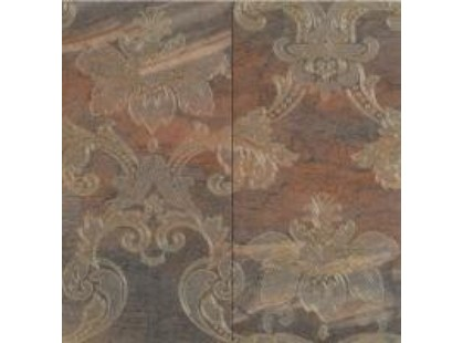 Ricchetti Digi Marble Decor Panello Damasco Copper, компл = 2 шт 30х60