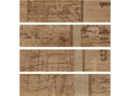 Rondine ceramiche Tabula Decore Tracce Beige (4 плитки 150Х610 мм)