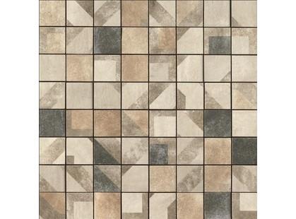 Serenissima Cir Anni 70 Aurora-Olivia Mosaico Tessera Mix Decorato 5,7x5,7 10