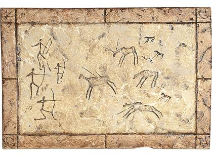 Serenissima Cir Quarry stone Formella Graffiti Noce