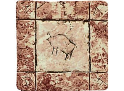 Serenissima Cir Quarry stone Formella Graffiti S/3 Corallo